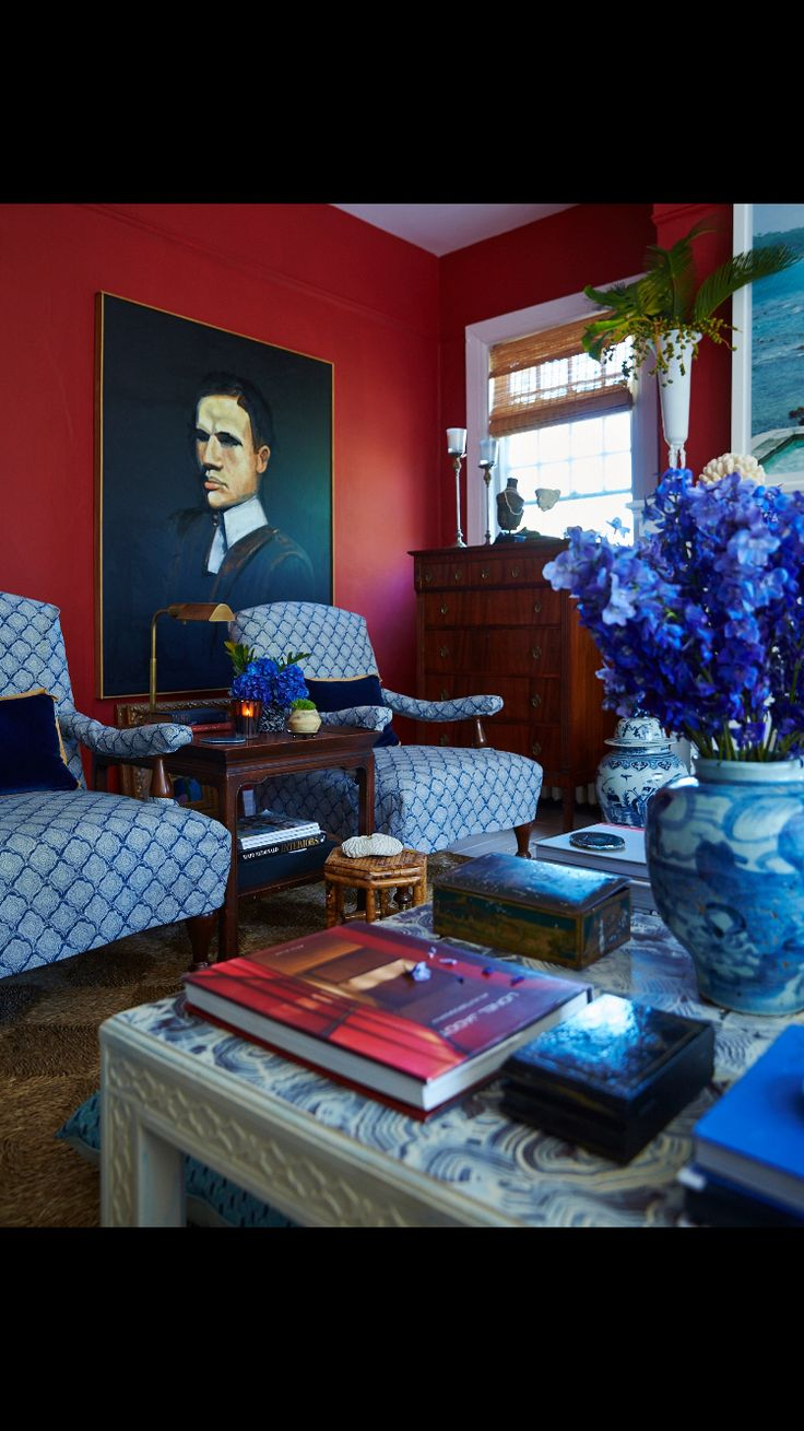 Red And Blue Living Room Decor 49 Best Images About Red Walls On Pinterest Music Rooms Red