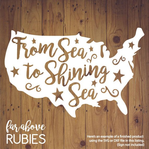 America From Sea to Shining Sea SVG JPG PNG format cut