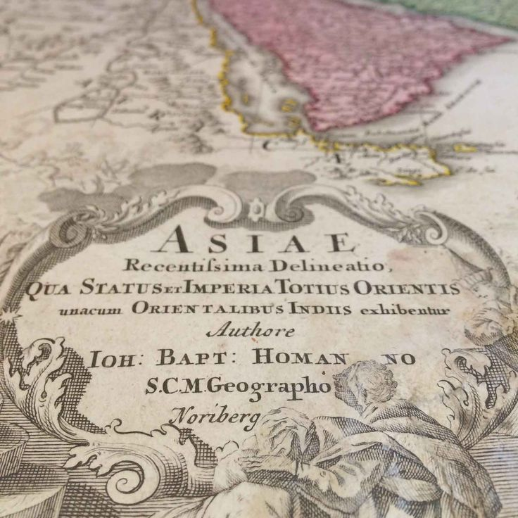 Aasian kartta vuodelta 1730, Johann Christoph Homann