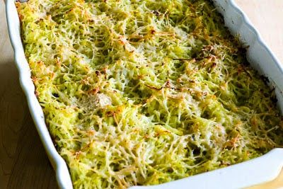 Twice-Baked Spaghetti Squash Recipe with Pesto and Parmesan (Low-Carb, Gluten-Free)  [from KalynsKitchen.com]