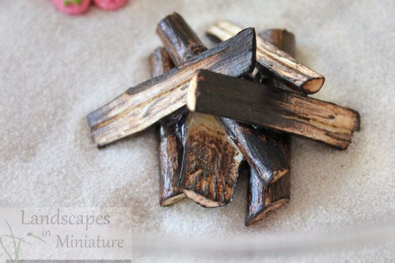 Miniature Handcrafted Beach Fire Pit by LandscapesNMiniature
