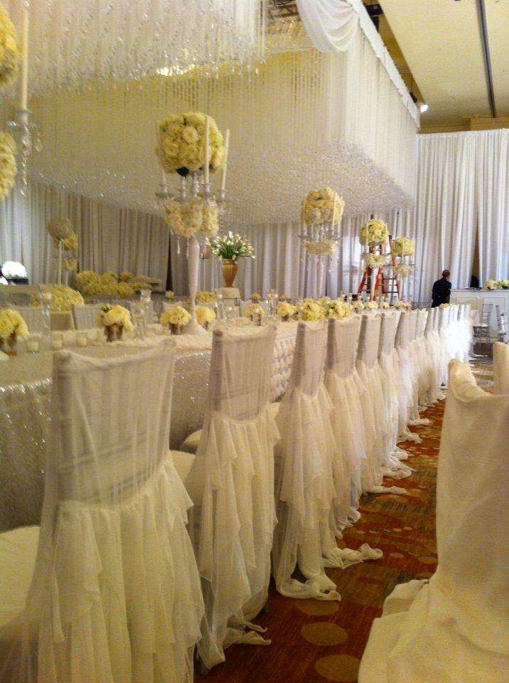 Nene Leakes' Wedding reception with over 400 white chiffon ...
