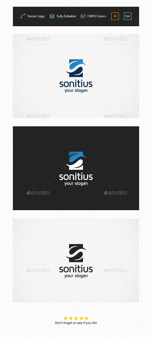 Sonitius S Letter - Logo Design Template Vector #logotype Download it here: http://graphicriver.net/item/sonitius-s-letter-logo/6147200?s_rank=55?ref=nesto