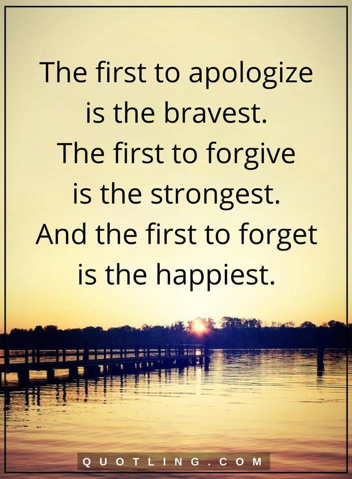 The first to apologize is the bravest. The first | Life Lessons