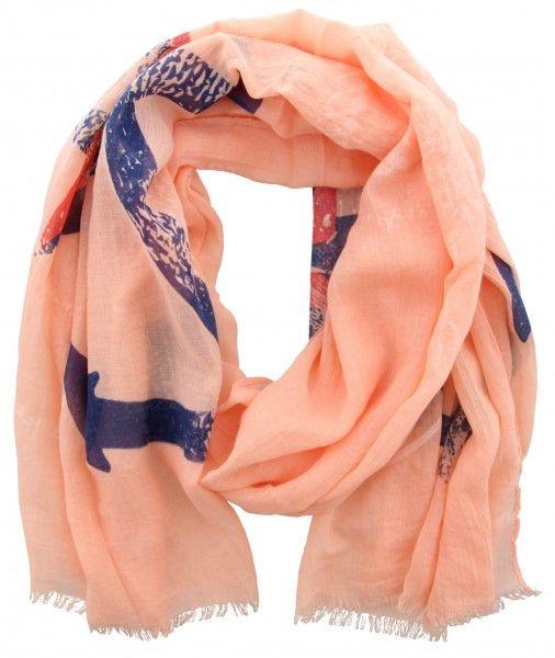 Sjaal met anker en compasster - zalmroze