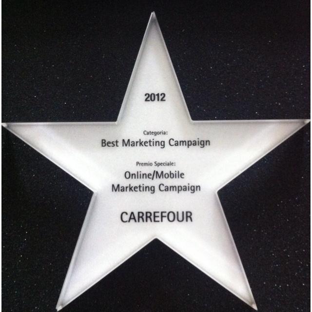 Premiati per la miglior Campagna On line Web/Mobile marketing con il Carrefour Rap in Carrefour... Big Up!