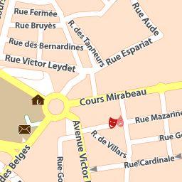 Carte détaillée Aix-en-Provence - plan Aix-en-Provence - ViaMichelin