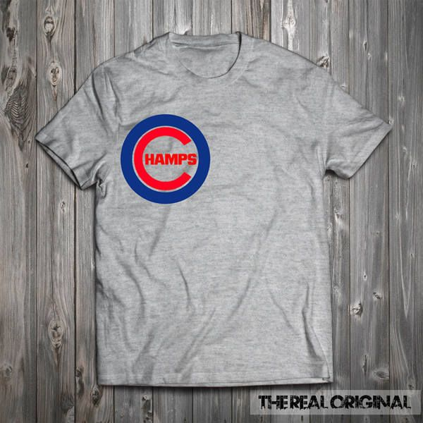 Chicago Cubs - Champs World Series Champions Tee  Baseball Dad Baseball MLB T-Shirt - T-Shirt Fathers Day Tee RO233 by TheRealOriginal on Etsy