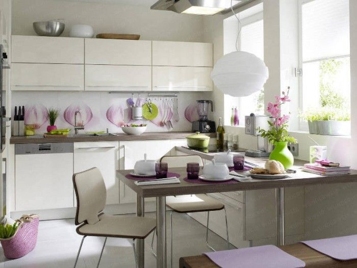Kitchen interior in white.