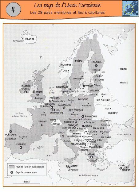 Une séquence sur l'UE avec les 28 pays (ajout de la Croatie).