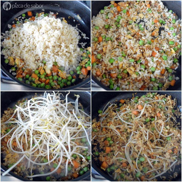 Cómo hacer arroz frito (arroz integral) | Receta | Arroz