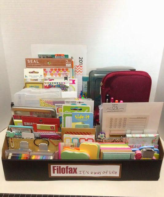 New Filofax organizational box // Craft Room Secrets