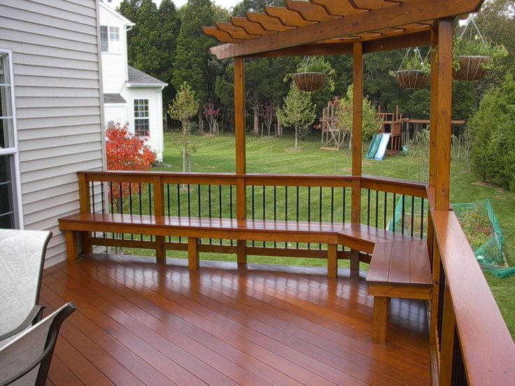 Deck with bench seats and trellis yard ideas pinterest for Deck trellis