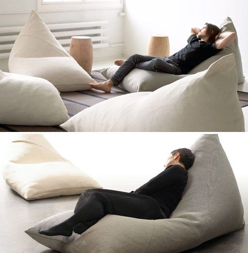 The My (top) and the Roo (bottom) were designed by Ulla Koskinen for Finnish company, Woodnotes. The minimal design is like a modern day bean bag chair for adults, minus the tacky fabric and design.