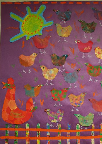 chicken mural - cute!