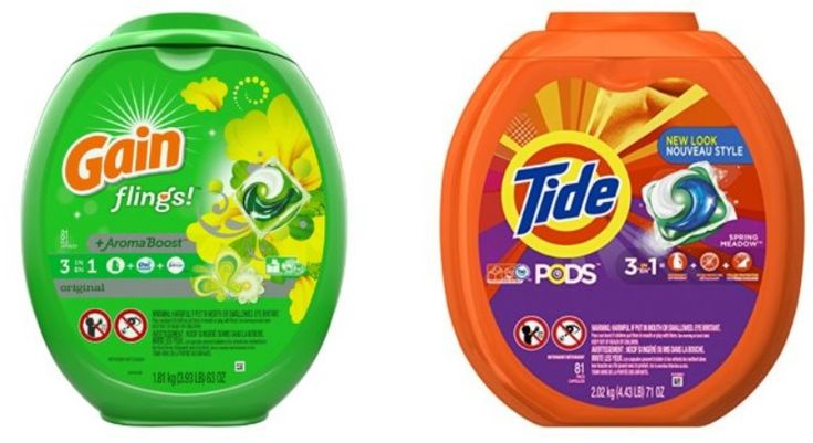 Amazon: Tide Pods & Gain Flings (81 Count Each) ONLY $13 Or $16 Shipped