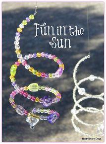 spiral sun catchers, diy home crafts, outdoor living