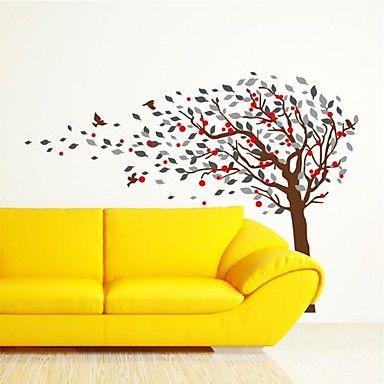 αυτοκόλλητα τοίχου αυτοκόλλητα τοίχου, σύγχρονο τα αυτοκόλλητα τοίχου πουλί δέντρο pvc – EUR € 28.78