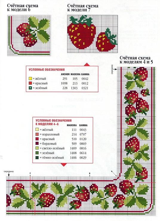 Cross-stitch Strawberry Borders ...   http://mila29.gallery.ru/watch?ph=bqrh-d5BiB