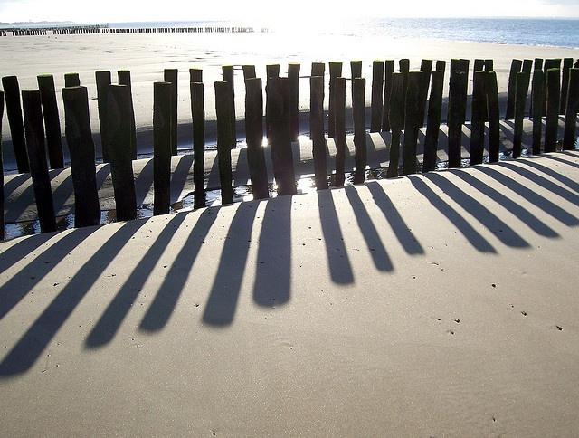 Zeeland beach. The Netherlands.