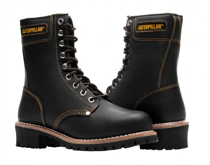 #CaterpillarSteelToeBoot include: steel toes, heel arch made specially for climbing ladders and a rubber sole that is made to prevent you from slipping. http://best-workboots.com/category/caterpillar/