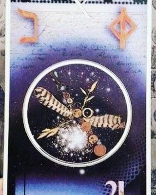 #tarotreadersofinstagram #riderwaite #jendevillier #sanantonio #GoodLuck #Karma #Flow #NewIdeas #Tarot #TarotCards #Creativity- The Wheel of Fortune- No matter what deck there is always much going on in the picture. The center of which is always a wheel much like a Ferris wheel. Things go up and things go down. Things keep moving no matter what which is partially what this card indicates. Depending on it's placement it can mean that there is a new beginning that is on the move in a positive…