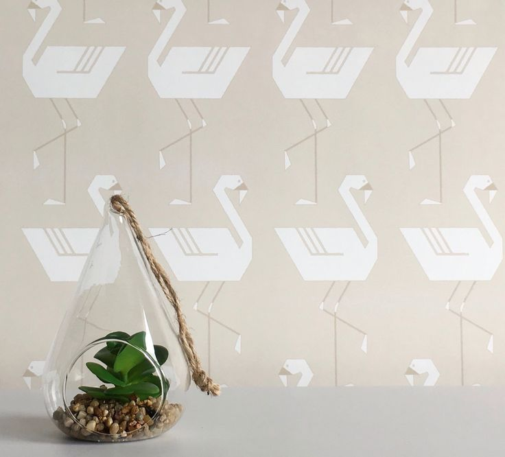 Flamingos In A Line in Neutral wallpaper  #wallpaper #removablewallpaper #flamingo #flamingowallpaper #flamingos