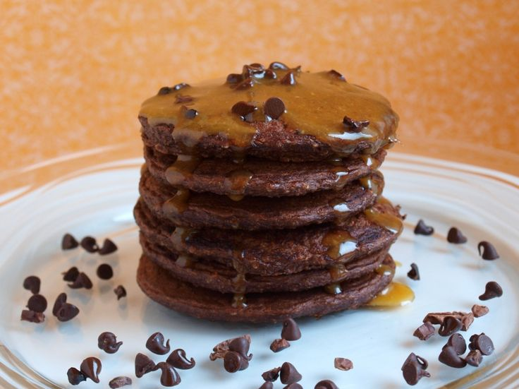 Black Tie Oscar Worthy Double Dark Chocolate Pancakes with Salted ...