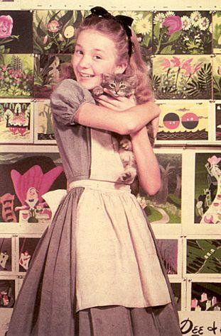 bohemea:    Kathryn Beaumont - Alice in Alice In Wonderland, 1951 & Wendy Darling in Peter Pan, 1953