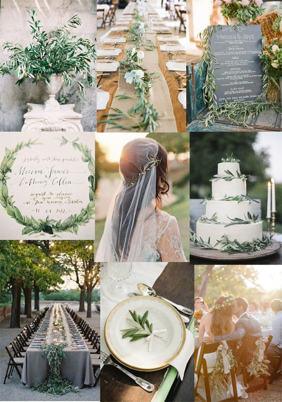 Inspiration for an olive branch wedding
