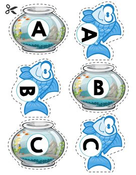 Free letter matching game. Great for letter identification.