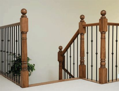 round metal balusters with round decorations