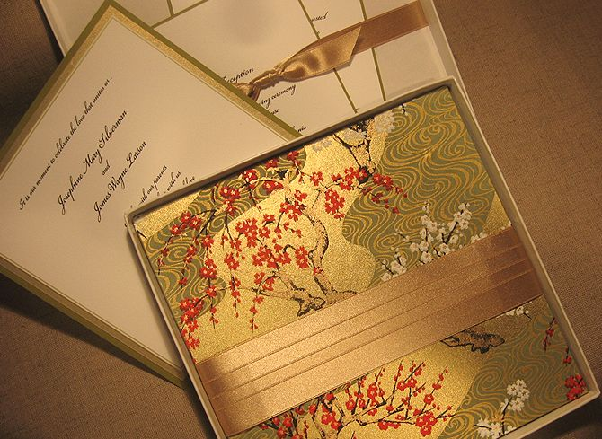 Chinese Themed Wedding Invitations: Asian Theme Wedding Invitations (Source: Dochelle.com