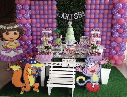 Festa rosa e lilás da Dora Aventureira                                                                                                                                                                                 Mais