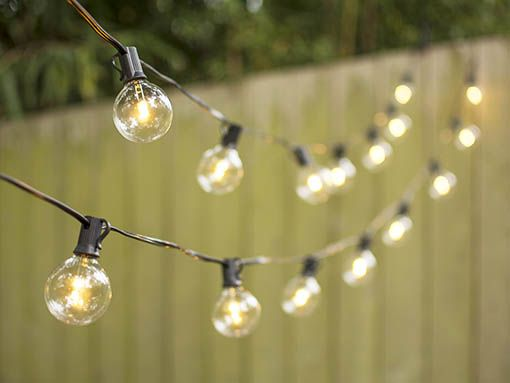 Black Wire LED Globe Lights Warm White