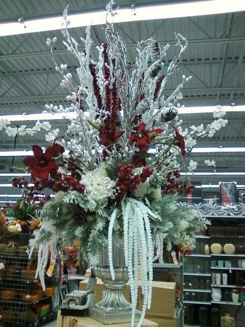 Let it snow Christmas arrangement by Tiffany Pickerel