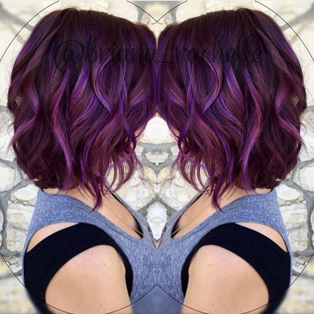 Image result for purple and red hair black