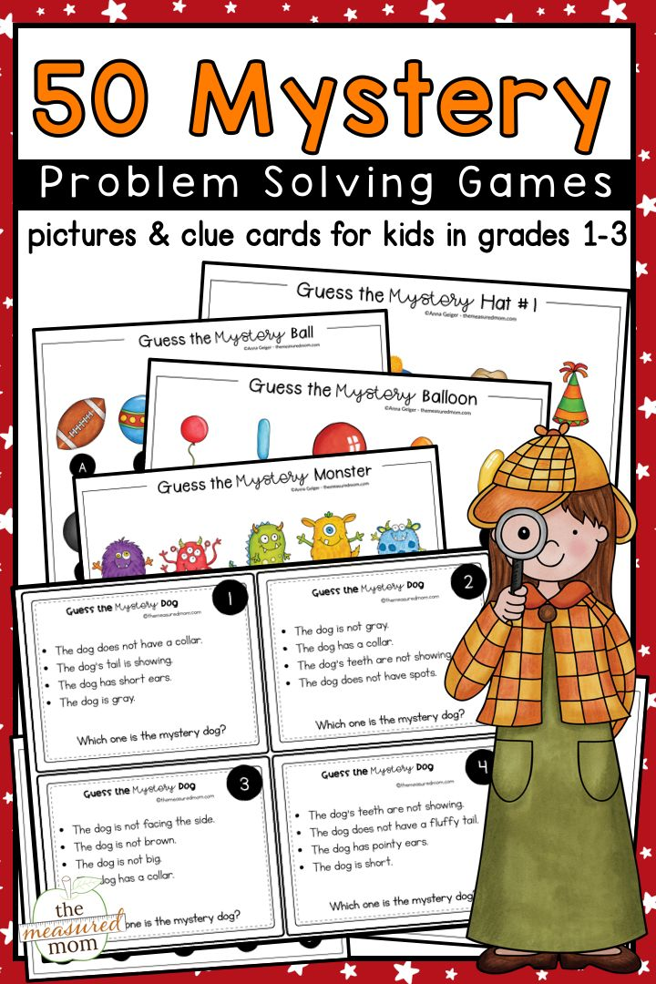 Mystery problem solving activities Problem solving