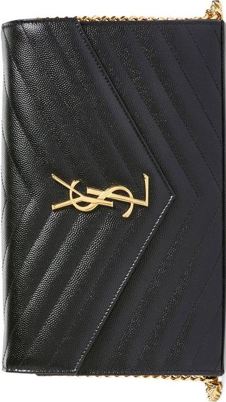 •Website: http://www.cuteandstylishbags.com/portfolio/saint-laurent-noir-large-monogram-quilted-leather-wallet/ •Bag: Saint Laurent Noir 'Large Monogram' Quilted Leather Wallet