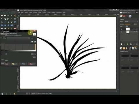 GIMP Tutorial: How to isolate objects on white background 2 - YouTube#at=112