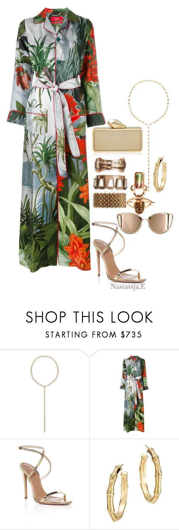 """Sihanoukville Province"" by nastassja-e ❤ liked on Polyvore featuring Melissa Kaye, Daniela Villegas, F.R.S For Restless Sleepers, Aquazzura and John Hardy"