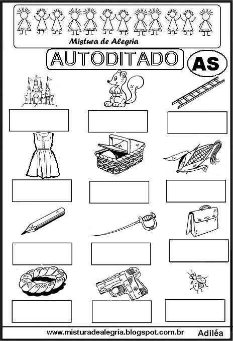 autoditado-letra-AS-alfabetizacao-imprimir-colorir.JPG (464×677)