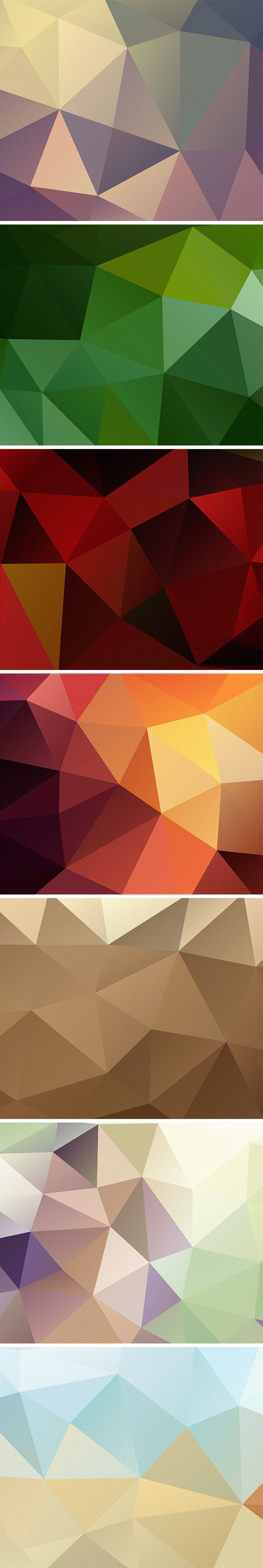 7 HD Polygon Backgrounds | GraphicBurger
