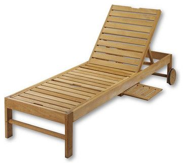Teak Chaise Chair   Traditional   Outdoor Chaise Lounges   Landsu0027 End