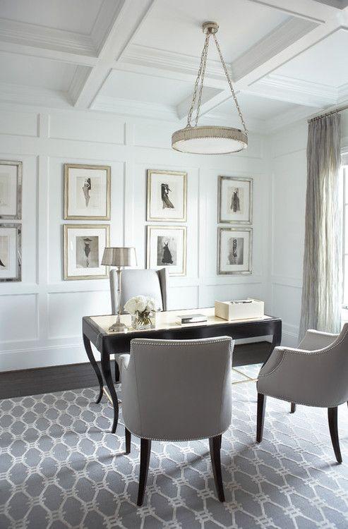 contemporary home office. Linda McDougald Design | Postcard from Paris Home, Greenville, SC.