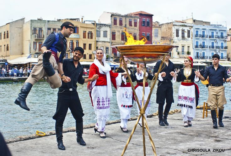 The flame in Chania
