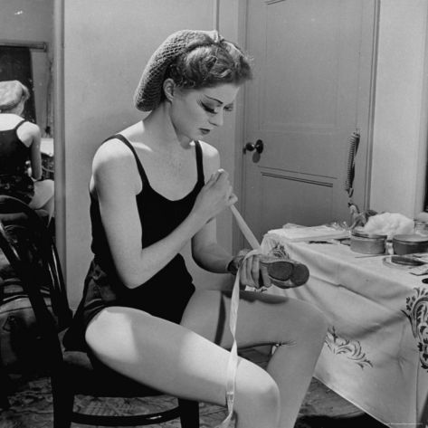 Dancer Moira Shearer, Who Plays Cinderella in a Ballet, Preparing to Go on Stage