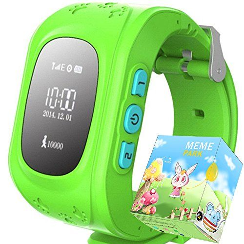 TURNMEON Smart Watch for Kids Children Smartwatch Phone with SIM Calls Anti-lost GPS Tracker SOS GPRS Bracelet Parent Control for Smartphone(Green) >>> More info could be found at the image url.