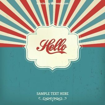 Vintage hello background