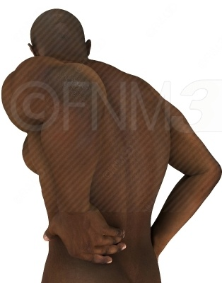 A muscular man holding his lower back, indicating that he has some back pain. Buy this unwatermarked at http://3dstockimage.com/index.php?user=7297=1